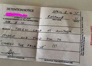 Detention Notice