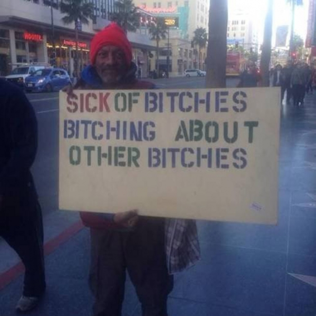 Quit yer bitching