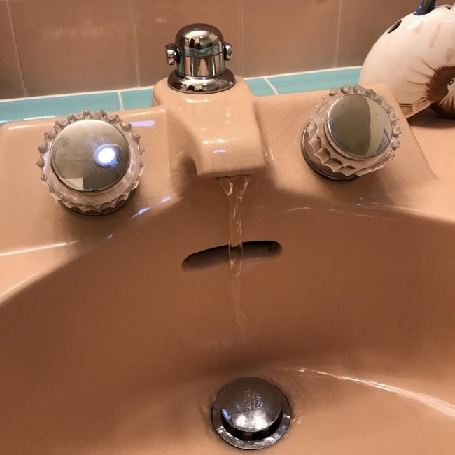 Scared sink